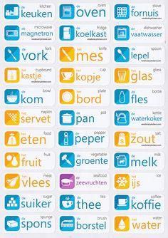 Dutch vocabulary sticker : keuken