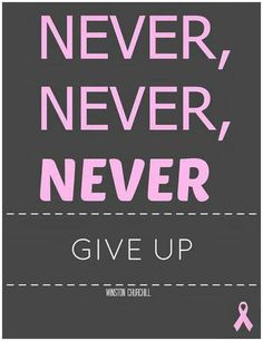 NEVET,NEVER , NEVER GIVE UP