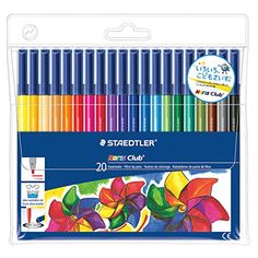 Staedtler Noris Club Marker Set - Fine Tip (20 Pack, Assorted Colors)