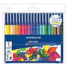 Staedtler Noris Club Marker Set - Fine Tip (20 Pack, Assorted Colors)
