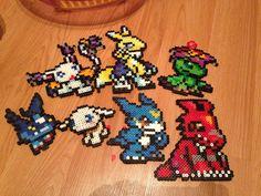 Digimon perler bead art