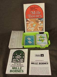 1970 Parker Brothers Mille Bornes French Card Game #parkerbrothers