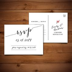 RSVP card for a wedding invitation | typography & design ...
