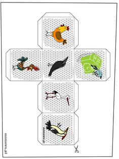 kostka-ptaszki Story Cubes, Playing Cards, Education, Games, Puzzle, Ideas, Speech Language Therapy, Projects, Riddles