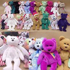 Ben was King of the Beanie Babies! He took very good care of them, most in clear boxes with tag protectors. Jenny has some cute ones, too.