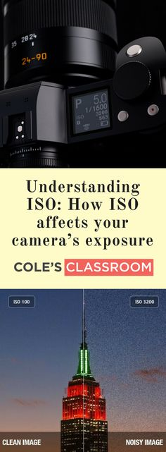 PHOTOGRAPHY TIPS & TECHNIQUE: Understanding ISO: How ISO affects your camera's exposure. Find out more at: https://www.colesclassroom.com/understanding-iso/