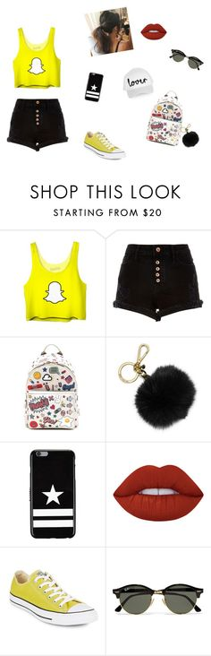 """keep calm and snap"" by lia-franco on Polyvore featuring River Island, Anya Hindmarch, MICHAEL Michael Kors, Givenchy, Lime Crime, Converse, Ray-Ban and Topshop"