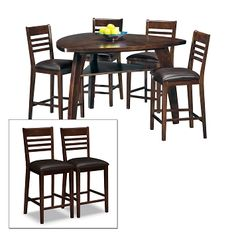 American Signature Furniture   Delano Dining Room 7 Pc. Counter Height  Dinette $599.93