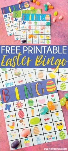 These free printable Easter bingo cards are perfect for kids or adults! Simply print out the Easter bingo game and play for one hopping good time! Easter Bingo, Easter Party Games, Easter Games For Kids, Birthday Games For Adults, Christmas Games For Kids, Kids Party Games, Birthday Party Games, Easter Activities, Easter Lunch