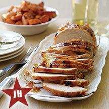 Apricot-Glazed Turkey and Sweet Potatoes for Easter or Passover - 8 Weight Watcher points (Received 4 1/2 Stars from Reviewers)