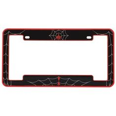 Kraco Paul Jr. Designs License Plate Frame, Black Widow