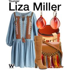 Inspired by Sutton Foster as Liza Miller on Younger