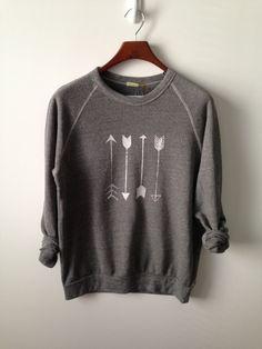 Arrow . Champ Sweatshirt by greythread on Etsy, $50.00 Riley Clay..love this