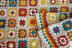 Ravelry: Mixed granny square blanket pattern by Alejandra N.