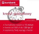 Jeżeli masz niskie zarobki, nie przejmuj się gdyż kredyt gotówkowy Eurobank otrzymasz na niski dochód od 380 zł. W Eurobank kredyt gotówkowy możesz zaciągnąć do kwoty 120 000 zł z atrakcyjnym niskim oprocentowaniem, bez zbędnych formalności. Jest to szybki kredyt gotówkowy udzielany