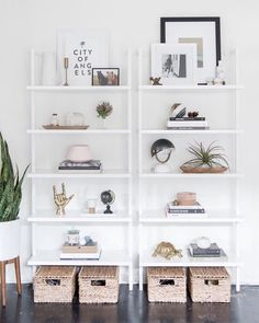 we can't think of a prettier way to start the week. shop the CB2 Stairway White Wall Mounted Bookcase with link in bio. - #mycb2 via @mixandmatchdesigncompany ( via @designsponge)