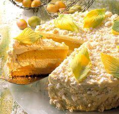 Torten-Rezepte: Ostertorte mit Marzipan und Pfirsiche
