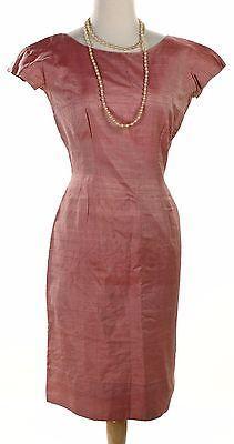 50s-Pink-Silk-Wiggle-Pencil-Dress-Vintage-Pin-Up-Curvy-Sz-Small-Hey-Viv