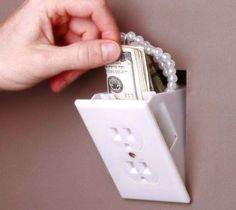 Hidden Outlet Wall Safe – $9 I will have at least 2 of these in every room of my home