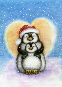 Pingüinos, penguin, christmas.