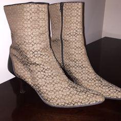 Coach Boots Coach Jeri Short Boots, size 10 Coach Shoes Heeled Boots
