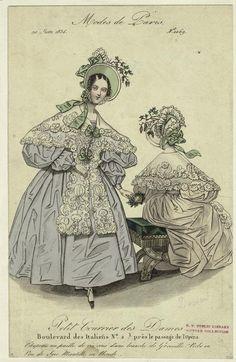 """""""Modes de Paris"""", Petit Courrier des Dames, June 1834; NYPL 802115"""