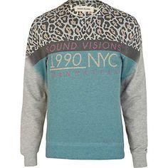 Green Leopard print sweat - hoodies / sweatshirts - sale - men