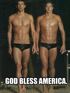 ...and God bless Olympic swimming.