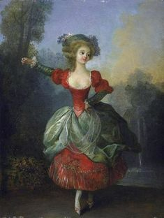 The Athenaeum - Dancer in Front of a Fountain in a Park (Jean-Frédéric Schall - ) Owner/Location:	 Private collection Dates:	Date unknown Dimensions:	Height: 32 cm (12.6 in.), Width: 24 cm (9.45 in.) Medium:	 Painting - oil on panel
