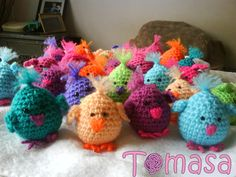 Pollitos al crochet, ideal cumpleaños infantiles