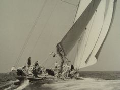 """""""Ranger"""" - 1937 winner, America's Cup Sail Racing, Sailboat Racing, J Class Yacht, Boat Safety, Classic Yachts, Out To Sea, Sail Away, Isle Of Wight, Wooden Boats"""