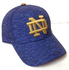 b41cf03934e new NOTRE DAME FIGHTING IRISH HAT Heather Navy Blue Structured Dry Fit  Men Women