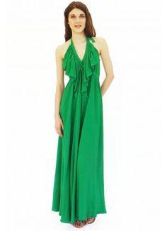 Maxi Dress Backless Emerald Green $119.00