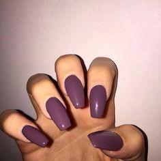 cute, love, nails, purple, tumblr, fleek, coffin shaped nails