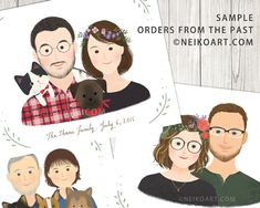 PRINTABLE custom portrait couple portrait with or without
