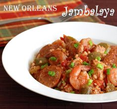 New Orleans Jambalaya recipe chicken rice shrimp andouille sausage Southern traditional