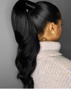 Provide High Quality Full Lace Wigs With All Virgin Hair And All Hand Made. Wholesale Human Hair Wigs Best Hair Bleach For Black Hair Henna For Grey Hair To Black Hair Ponytail Styles, Weave Ponytail Hairstyles, Sleek Ponytail, Curly Hair Styles, Natural Hair Styles, Long Ponytail Weave, Black Hair Ponytail, Black Hair Bun Styles, Natural Hair Ponytail