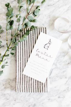 Host a beautiful Easter Lunch   Free Printable Easter Menu designed by The TomKat Studio  #tomkatstudio for #stouffers #sponsored