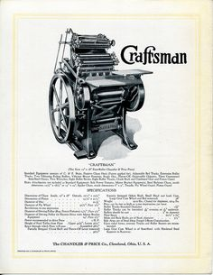 Chandler & Price Craftsman press