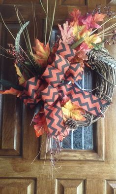 Check out this item in my Etsy shop https://www.etsy.com/listing/247867456/traditional-fall-harvest-wreath