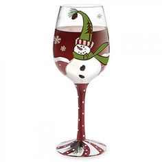 How+To+Decoupage+On+Glass | Frosty Cheers Hand-Decorated Wine Glass - Glasses - Entertaining