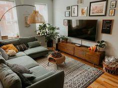 Living Room Setup, Boho Living Room, Small Living Rooms, Living Room Interior, Modern Living, Small Living Room Designs, Manly Living Room, Bohemian Living, Cosy Living Room Decor