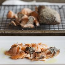 make smoked salmon at home!!  Smoky Tea-Cured Salmon Two Ways from the Tasting Table Test Kitchen