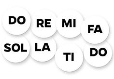 """Music-Go-Rounds SOLFEGE SYLLABLES DOTS Our safe, durable silicone disks and hearts cling like magnets to your whiteboard or any smooth surface, and can be used on the floor with our floor mats, or as place markers or game pieces for group activities. Unlike magnets, these will not break or lose their ability to stick. Made of soft, flexible, washable food-grade silicone that won't tear or deform. We're sure they'll become your new classroom favorites. 3¾""""."""