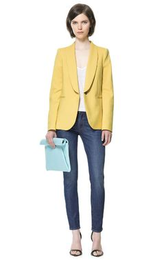 Image 1 of WING-COLLARED BLAZER from Zara --Love the color!