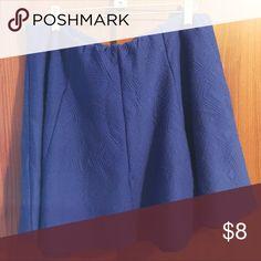 Geometric patter skater skirt - forever 21 Blue skater skirt with geometric pattern Forever 21 Skirts Mini