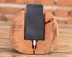 Massive Holz iPhone Dock-Station hölzerne iPhone 6 von WoodRestart
