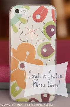 Phone cover using scrapbook paper