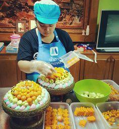 #ขนมมงคลเก้า..สำหรับลูกค้าอำนาจเจริญ ร้านขนมไทยป้าเนตร ขอขอบคุณมากๆครับ ขนมไทยสวยๆอร่อยๆ ขนมมงคล ขนมงานแต่ง ใว้ใจเราสิครับ #ขนมไทยป้าเนตร #ขนมไทย #Thaidessert #ขนมไทยโบราณ  #ขนม