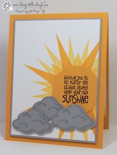 Stampin' Up! Ray of Sunshine With Sprinkles of Life